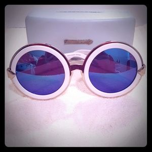 Karen Walker sunglasses gold white